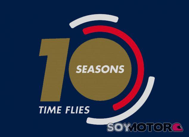 Logo especial de Toro Rosso por los 10 años en Fórmula 1 - LaF1.es