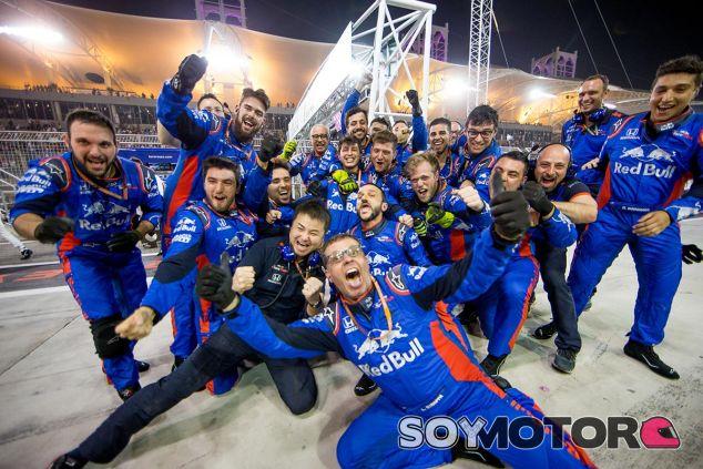 Toro Rosso festeja la cuarta posición de Gasly - SoyMotor