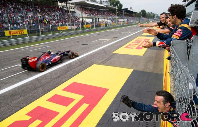 Toro Rosso celebra el resultado de Daniel Ricciardo en Monza - LaF1
