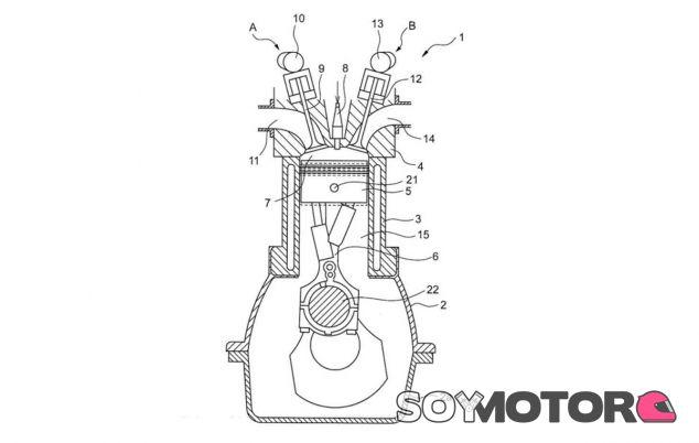 Imagen de la patente del motor de compresión variable de Toyota - SoyMotor