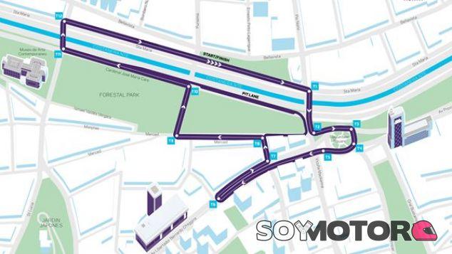 Mapa del trazado en Santiago - SoyMotor.com