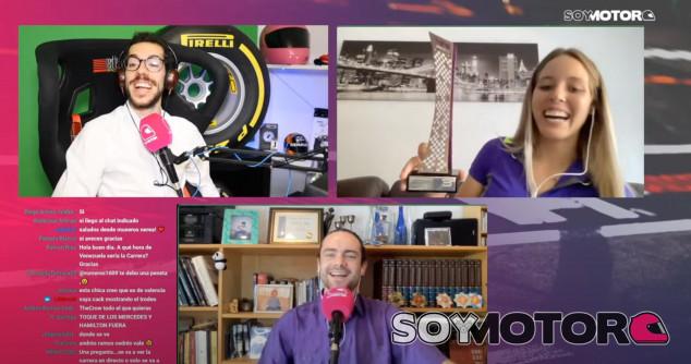 Nerea Martí nos muestra el trofeo de Hungría en Twitch - SoyMotor.com