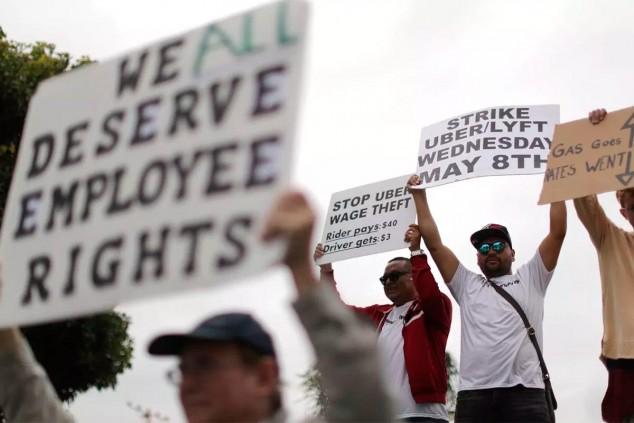 Uber paga por no conducir e ir a la huelga