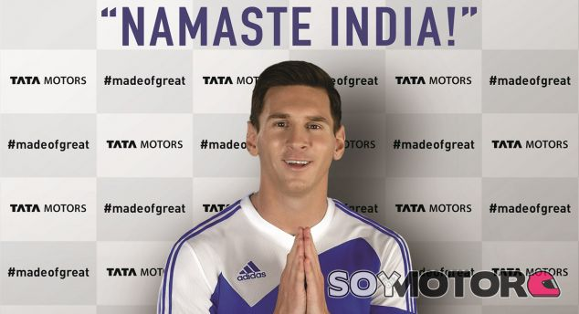 Messi en la primera foto promocional como imagen de Tata Motors - SoyMotor