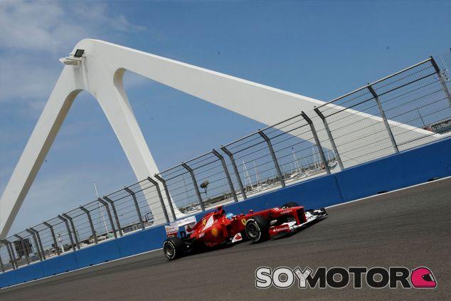 Fernando Alonso durante el Gran Premio de Europa de 2012 - LaF1