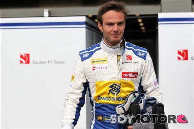 Van der Garde se puso el mono de Ericsson, pero no llegó a subirse al Sauber - LaF1