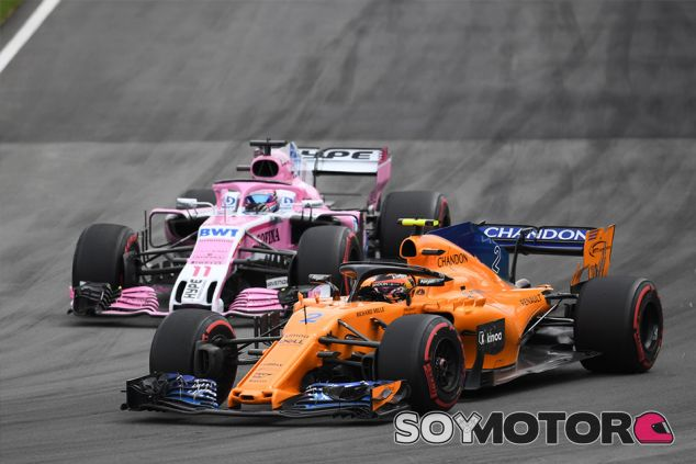 Stoffel Vandoorne y Sergio Pérez en Montreal - SoyMotor.com