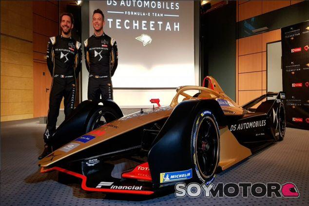 Vergne y Lotterer con el DS E-Tense FE19 - SoyMotor.com