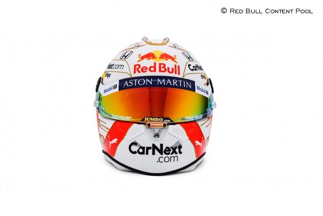 Max Verstappen presenta su casco para 2020: toques dorados - SoyMotor.com