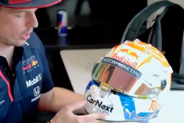 Verstappen estrena casco en el GP de Estiria en honor a sus fans - SoyMotor.com