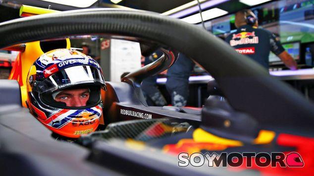 Verstappen probó el halo durante los Libres 1 del GP de Italia - LaF1