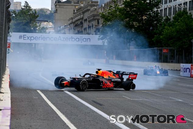 Fin de la investigación: Stroll y Verstappen pincharon en Bakú por tener presiones bajas - SoyMotor.com