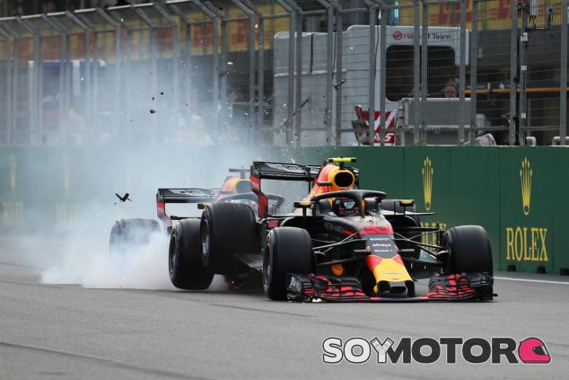 Accidente entre los Red Bull en Azerbaiyán – SoyMotor.com