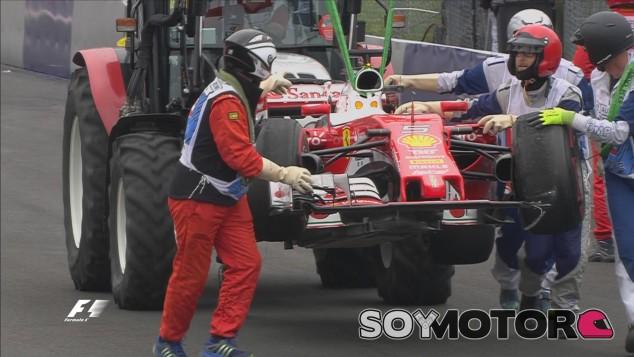 Sebastian Vettel reventó su neumático en Austria - LaF1