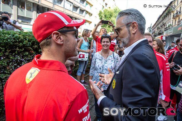 Sebastian Vettel y Maurizio Arrivabene en Milán - SoyMotor.com