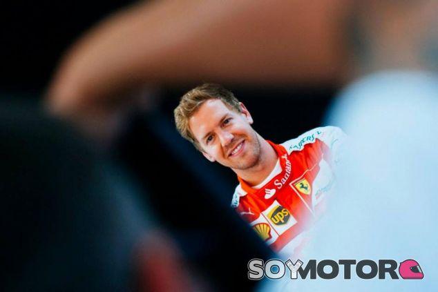Sebastian Vettel está más que satisfecho con sus primeros pasos en Ferrari - LaF1
