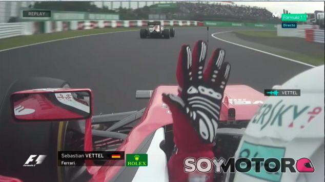 Sebastian Vettel se queja por radio de un doblado en Japón - LaF1