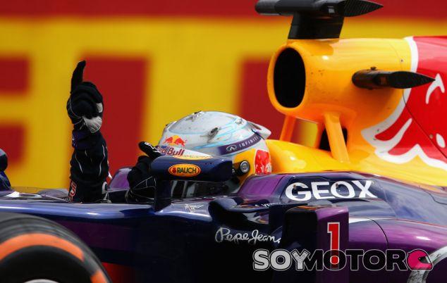 Sebastian Vettel festeja su victoria en Monza - LaF1