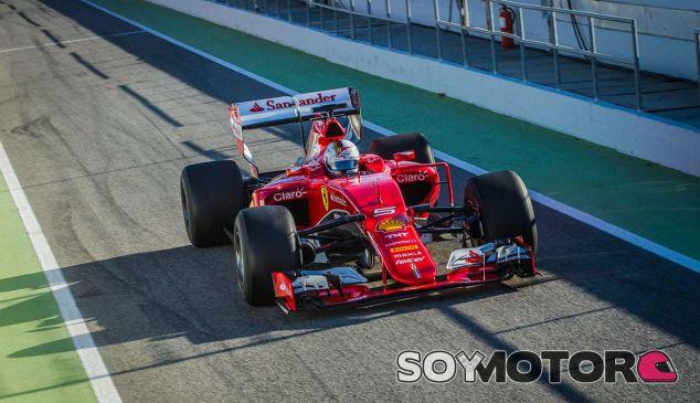 Sebastian Vettel en los tests de Pirelli en Montmeló - LaF1