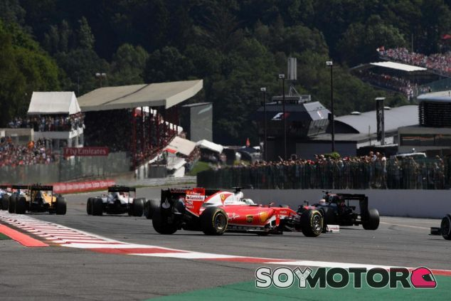 Vettel acabó trompeado por la acción de Verstappen en la salida - LaF1