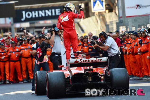 Sebastian Vettel tras su victoria en Mónaco - SoyMotor