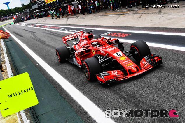 Sebastian Vettel, hoy en Interlagos - SoyMotor