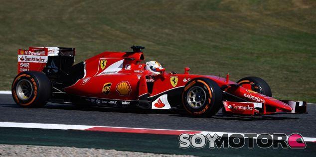 Sebastian Vettel, hoy en Barcelona - LaF1
