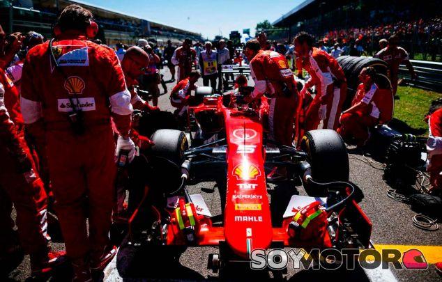 Sebastian Vettel en la parrilla de Monza - LaF1