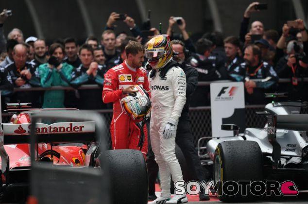 Vettel tiene una relación cordial con Hamilton - SoyMotor.com