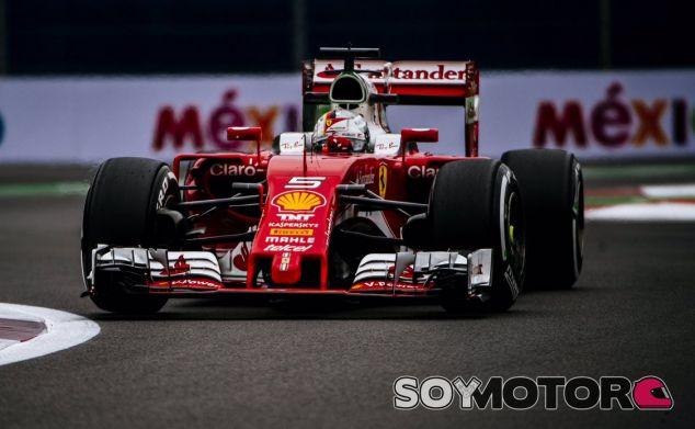 Vettel, durante el GP de México - LaF1