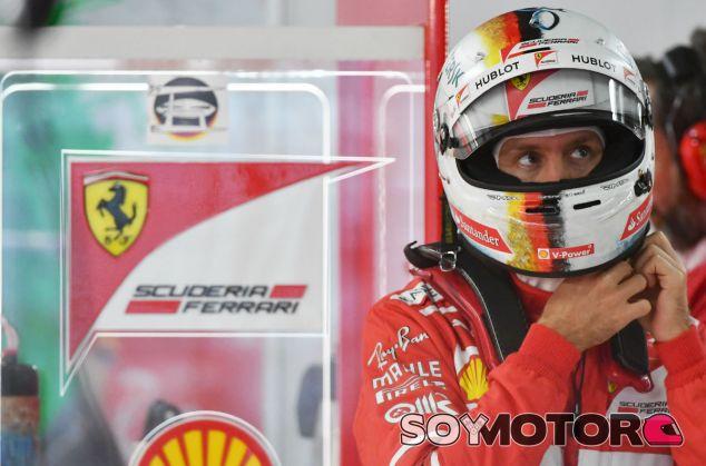 Vettel durante el GP de Japón F1 2017 - SoyMotor.com