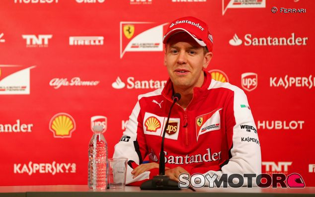 Sebastian Vettel en rueda de prensa con Ferrari - LaF1.es