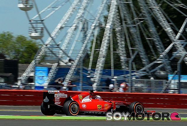 Sebastian Vettel, hoy en Silverstone - LaF1