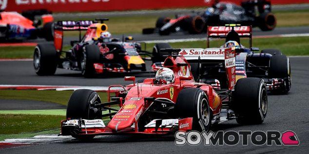 Sebastian Vettel en el pasado Gran Premio de Gran Bretaña - LaF1