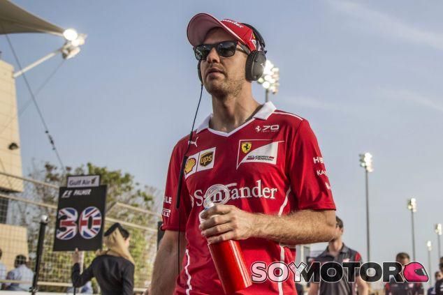 Vettel durante el GP de Baréin - SoyMotor
