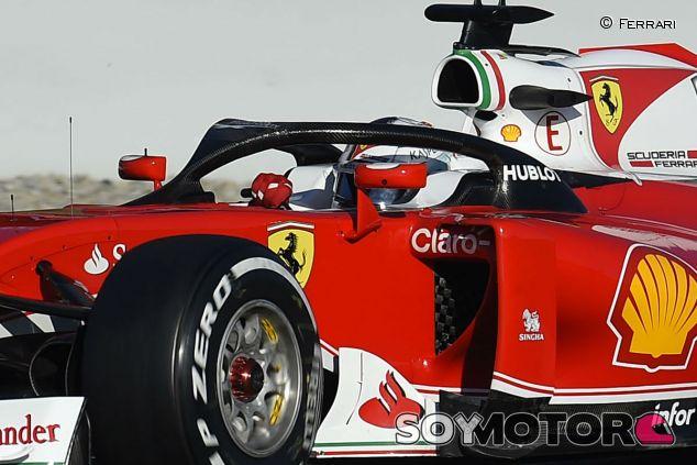 Sebastian Vettel en pretemporada con el halo original - LaF1