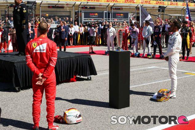 Sebastian Vettel y Lewis Hamilton en Austin - SoyMotor.com