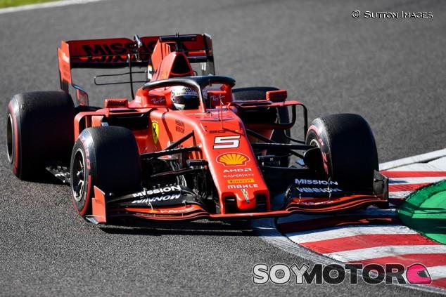 Vettel tiró de freno de mano en la salida de Japón - SoyMotor.com