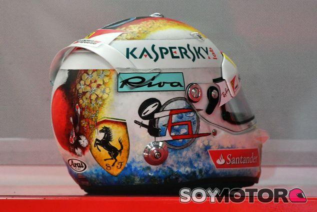 Casco especial de Vettel para el GP de Japón - SoyMotor.com