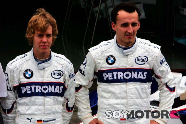 Sebastian Vettel y Robert Kubica en Brasil - SoyMotor.com