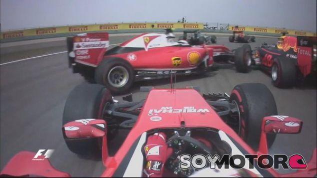 Vettel culpa a Kvyat del incidente en la salida - LaF1