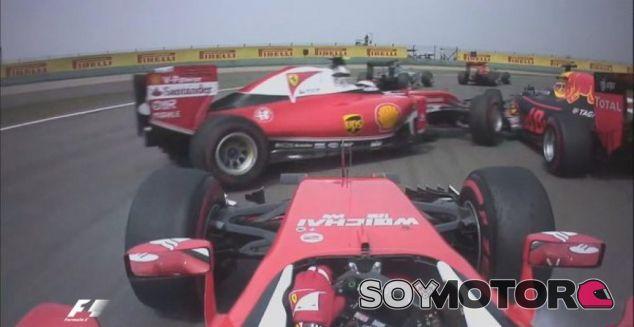 Éste fue el momento del accidente de la salida del GP de China - LaF1