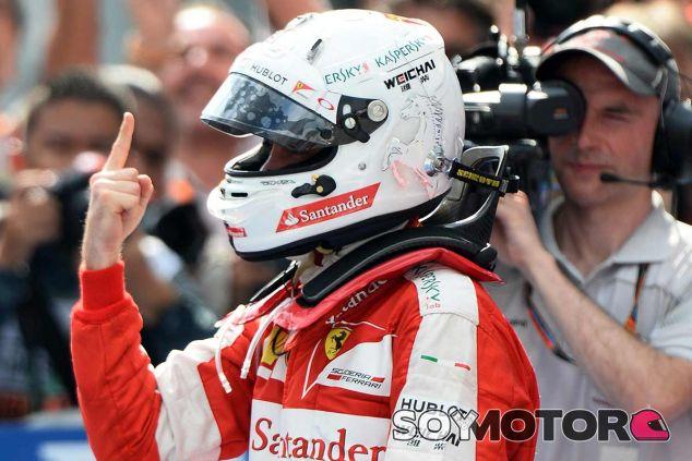 Sebastian Vettel, eufórico tras vencer en Sepang - LaF1