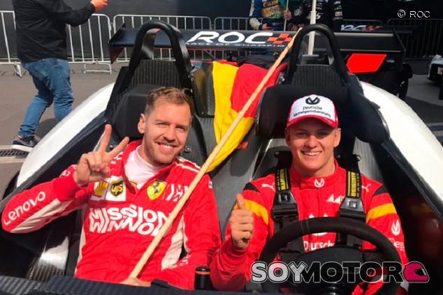 Sebastian Vettel y Mick Schumacher en México - SoyMotor.com