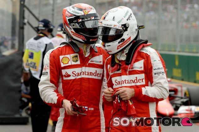 Räikkönen y Vettel tras la clasificación del GP de Australia - LaF1