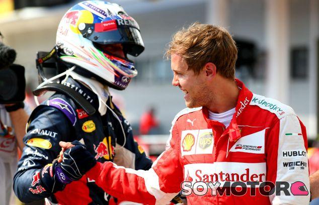 Daniel Ricciardo y Sebastian Vettel - LAF1