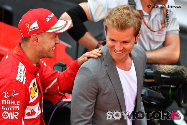 Sebastian Vettel y Nico Rosberg en Mónaco ´- SoyMotor.com