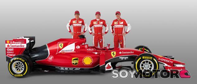 Vettel, Raikkonen y Gutierrez con el SF15-T - LaF1.es