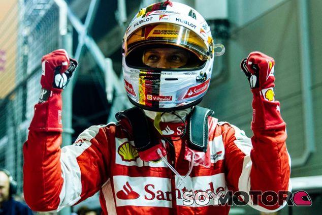 Sebastian Vettel celebra su primera Pole desde Brasil 2013 - LaF1