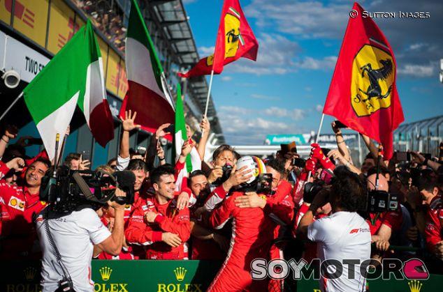Sebastian Vettel celebra con Ferrari su victoria en Australia - SoyMotor.com